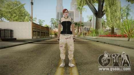 Gunrunning Female Skin v3 for GTA San Andreas second screenshot
