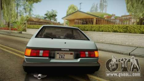 Toyota Corolla AE86 for GTA San Andreas upper view