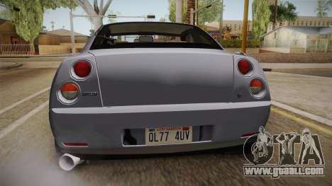 Fiat Coupe for GTA San Andreas bottom view