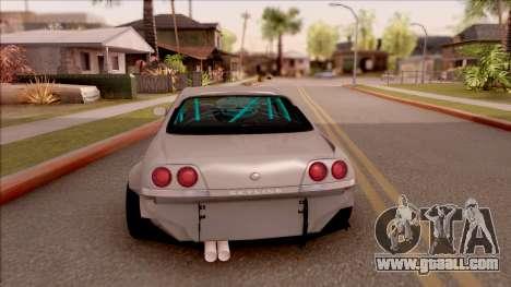 Nissan Skyline R33 Rocket Bunny v2 for GTA San Andreas back left view