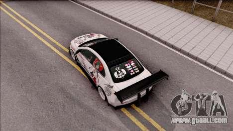 Mitsubishi Lancer Evolution X KC Itasha for GTA San Andreas back view