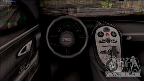 Bugatti Veyron Dubai High Speed Police for GTA San Andreas inner view