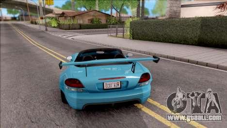 Dodge Viper SRT-10 Widebody 2003 for GTA San Andreas back left view