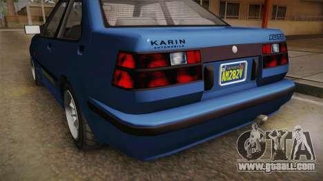 GTA 5 Karin Futo 4-doors IVF for GTA San Andreas upper view