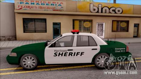 Ford Crown Victoria Flint County Sheriff 2010 for GTA San Andreas left view