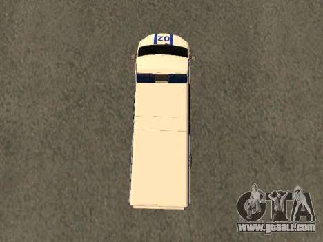 GAZelle NEXT Police for GTA San Andreas back view