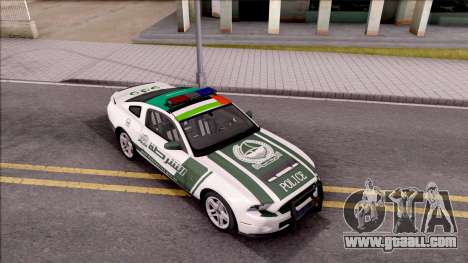 Ford Mustang Shelby GT500 Dubai HS Police for GTA San Andreas right view