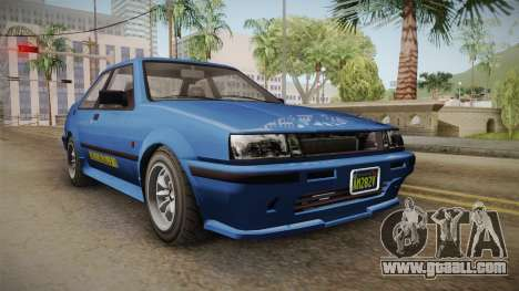 GTA 5 Karin Futo 4-doors IVF for GTA San Andreas
