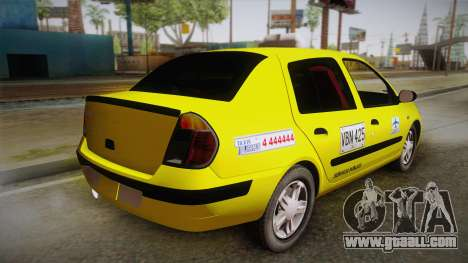 Renault Symbol Taxi for GTA San Andreas left view