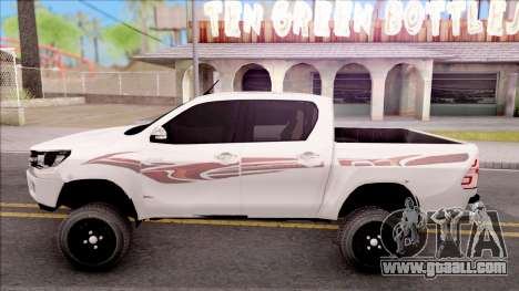 Toyota Hilux 2016 for GTA San Andreas left view