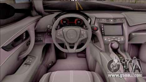 Honda NSX 2017 for GTA San Andreas inner view