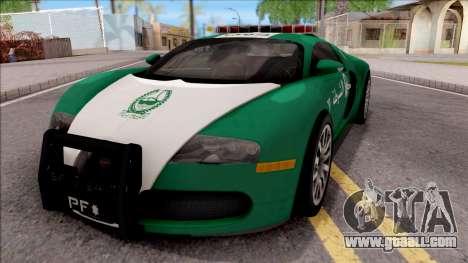 Bugatti Veyron Dubai High Speed Police for GTA San Andreas