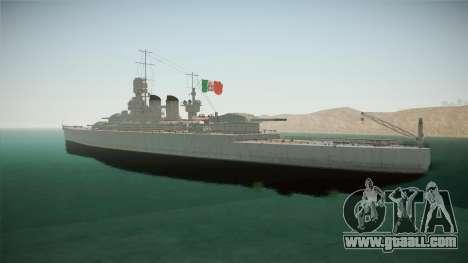 Littorio Class Battleship for GTA San Andreas