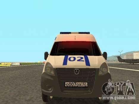 GAZelle NEXT Police for GTA San Andreas back left view