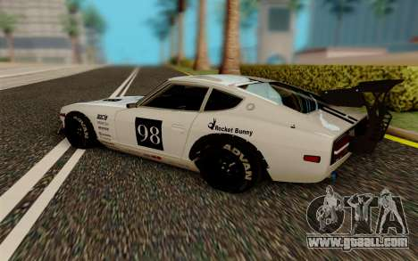 Nissan Fairlady 240Z Rocket Bunny for GTA San Andreas back left view
