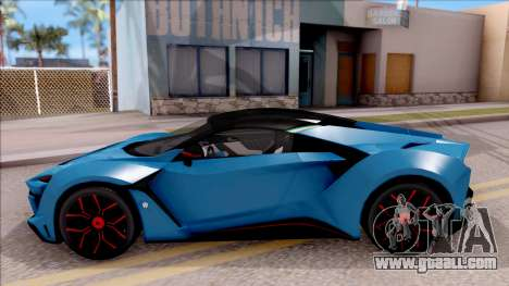 W Motors Fenyr SuperSport for GTA San Andreas left view