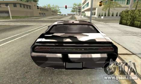 Dodge Challenger SRT for GTA San Andreas back view