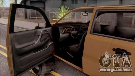 Declasse Granger 4x4 for GTA San Andreas inner view