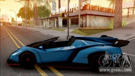Lamborghini Veneno Roadster v.1 for GTA San Andreas left view