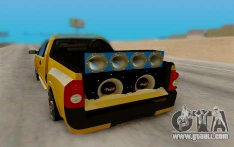 Chevrolet Montana for GTA San Andreas inner view