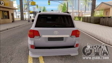 Toyota Land Cruiser 200 Sport for GTA San Andreas back left view