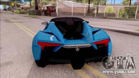 W Motors Fenyr SuperSport for GTA San Andreas