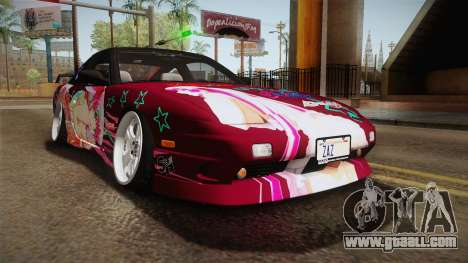 Nissan 240SX Ousawa Miu Itasha for GTA San Andreas back left view