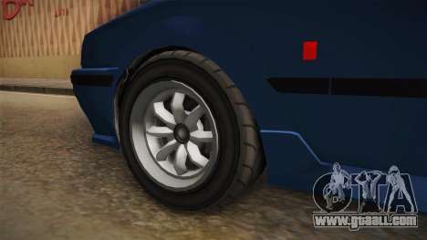 GTA 5 Karin Futo 4-doors IVF for GTA San Andreas inner view