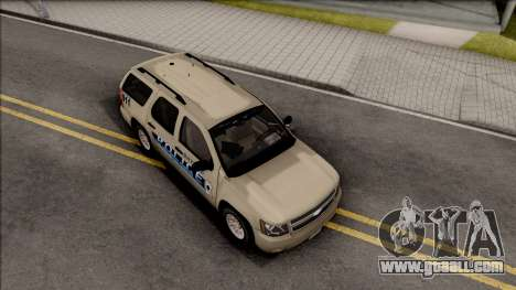 Chevrolet Tahoe Bayside Police Department 2010 for GTA San Andreas right view