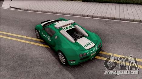 Bugatti Veyron Dubai High Speed Police for GTA San Andreas back view