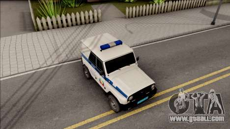 UAZ Hunter Police for GTA San Andreas right view
