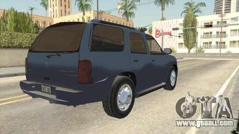 Cadillac Escalade 2002-2006 v2 for GTA San Andreas back left view