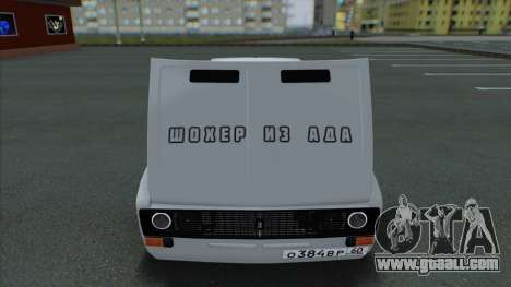 VAZ 2106 Shaherizada 2.1 GVR SA:MP for GTA San Andreas back view
