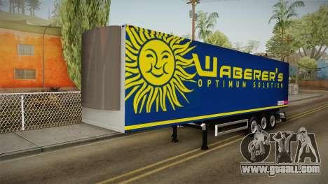 Waberers Trailer for GTA San Andreas