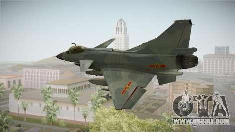 Chengdu J-10 Vigorous Dragon for GTA San Andreas left view