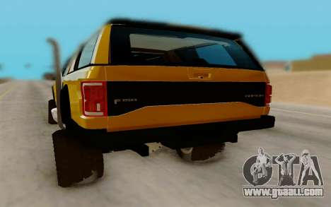 Ford F150 Raptor 4x4 Off-Road for GTA San Andreas right view