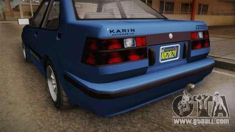 GTA 5 Karin Futo 4-doors IVF for GTA San Andreas side view