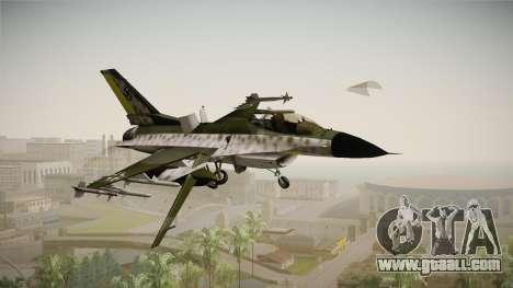 F-16A Luftwaffe WW2 for GTA San Andreas