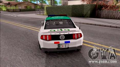 Ford Mustang Shelby GT500 Dubai HS Police for GTA San Andreas back left view