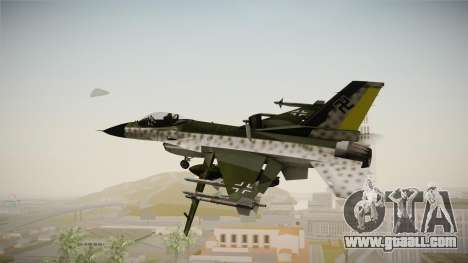 F-16A Luftwaffe WW2 for GTA San Andreas right view