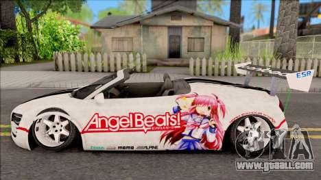 Audi R8 Spyder Angel Beats for GTA San Andreas