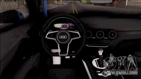 Audi TTS 2015 for GTA San Andreas inner view