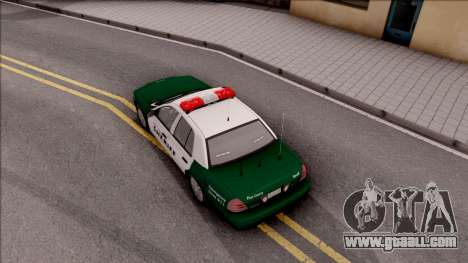 Ford Crown Victoria Flint County Sheriff 2010 for GTA San Andreas back view