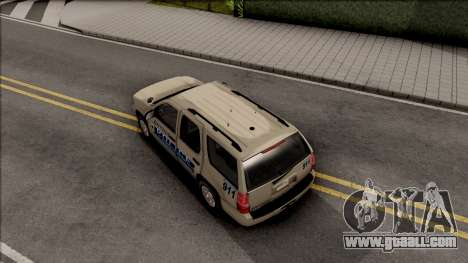 Chevrolet Tahoe Bayside Police Department 2010 for GTA San Andreas back view