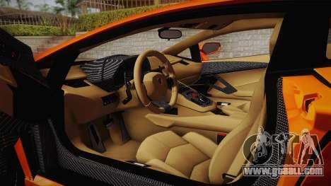 Lamborghini Aventador LP700-4 Stock for GTA San Andreas side view