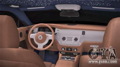 Rolls-Royce Wraith for GTA San Andreas back left view
