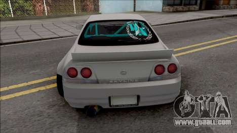 Nissan Skyline R33 Rocket Bunny for GTA San Andreas back left view