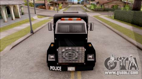 Enforcer from GTA 3 for GTA San Andreas inner view