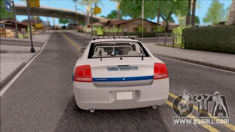 Dodge Charger San Andreas State Troopers 2010 for GTA San Andreas back left view