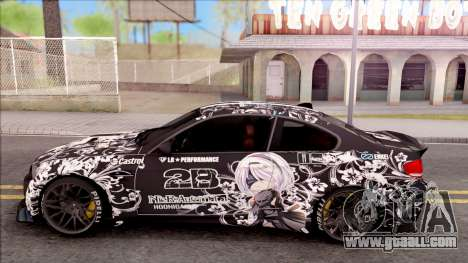 BMW M3 E92 2B of NieR: LB Performance for GTA San Andreas left view
